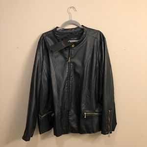 THERAPY // Black Leather Bomber
